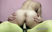 Milf With Fat Cellulite Ass Rides A Strapon Dildo