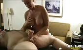 Amateur Grandma Gives A Handjob