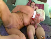 Blonde Granny Fucked By Young Teen Cock