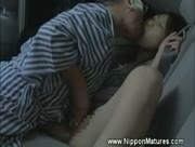 Mature japanese sexcaped in a car