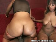 Black Girls With Big Bouncy Asses Riding Cock In Threesome