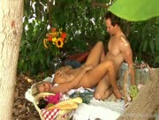 Amazing Busty Wife Gets A Picnic Fucking By Her Husband