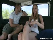 Teen Whore Stripped Down And Abused In The BangBus