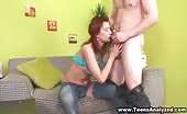 Skinny Redhead Teen Gets Her Asshole Popped Open