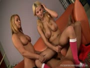 Mother And Daughter Share A Hard Cock