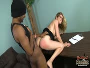 Pale Skin White Cougar Fucked Hard By Big Black Cock