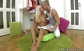 Young Blonde Teen About To Lose Virginity