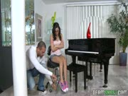 Tiny Mexican Whore Fucked By Piano Teacher