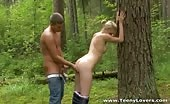 Teen Girl Picked Up In The Woods And Fucked Hard