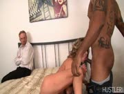 Man Watches Wife Service Big Black Stud