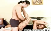 Slut In Fishnet Stockings Beat Down And Violated