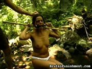 Girl Bound & Beaten In The Jungle