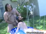 Brunette Teen Sucks And Fucked By Ron Jeremy