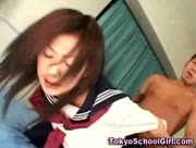 Japanese schoolgirl fuck and facial cumshot