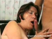 granny sucks blonde studs cock
