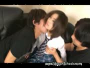 Japanese schoolgirl threesome