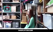 Teenager Redhead Caught Shoplifting And Fucked Hard