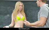 Teen SchoolGirl Pounded In Classroom