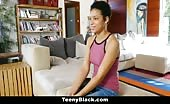 Lightskin Cutie With Puffy Nipples Fucked During Try Out