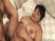 Granny Drilled By Young Cock