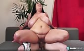 BBW With Heavy Saggy Udders Fucked