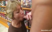 Granny Fucked In Video Store